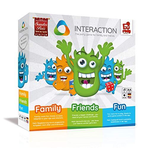 INTERACTION 2019 von Rudy Games - Interaktiver Brettspiel Spaß mit App und Malstift, Für Kinder und Freunde ab 8 Jahren