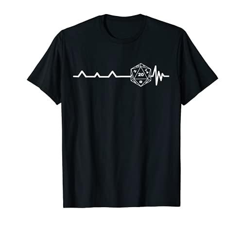 RPG DICE Herzschlag Herzfrequenz Pen and Paper Brettspiel T-Shirt