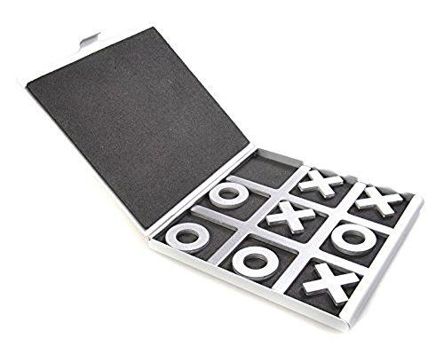 LZWIN Tic Tac Toe Aluminium Brettspiele Mit Kulturbeutel