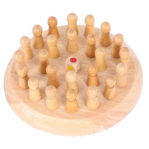 HXSAF Fliegender Schach, hölzerne Speicher-Match-Sticks, Brettspiele, Pädagogische Spielzeug, Match-Sticks, Brettspiele, lustige Elternkind-Brettspiele, 17, 5 cm (Holzfarbe)