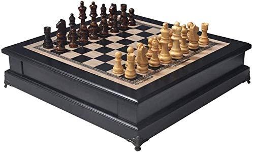 ZOUJUN Magnetische Holzschachspiel, Strategie Brettspiele for Erwachsene Einzigartige Schachspiele for Jungen, Mädchen, Kinder & Kinder