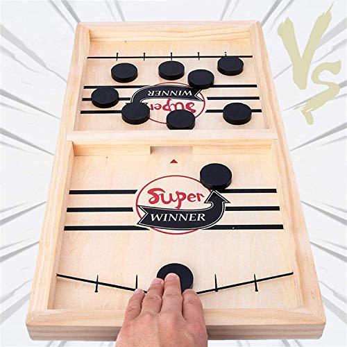 Tisch Desktop Battle 2 in 1 Eishockeyspiel, lustige klassische Battle-Brettspiele für Erwachsene oder Kinder, Sport-Brettspiel, schnelles Sling-Puck-Spiel, Gewinner-Brettspiele Spielzeug Party (Groß)