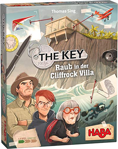 HABA 305543 - The Key – Raub in der Cliffrock-Villa, detektivisches Krimi-Spiel für 1–4 Spieler ab 8 Jahren, Familienspiel mit umfangreichem Spielmaterial und Lösungskontrolle