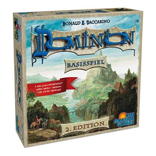Rio Grande Games 22501413 - Dominion Basisspiel - zweite Edition; Neuauflage des Spiel des Jahres 2009 (Familien Strategiespiel)