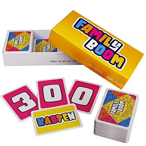 ZENAGAME Family Boom - Brettspiel für die gesamte Familie - 300 Einzigartige Karten, Spaßige Familienspiele, Geschenk für alle Altersgruppen, Vergnügen für Kinder und Erwachsene, Gemeinschaftsspiel