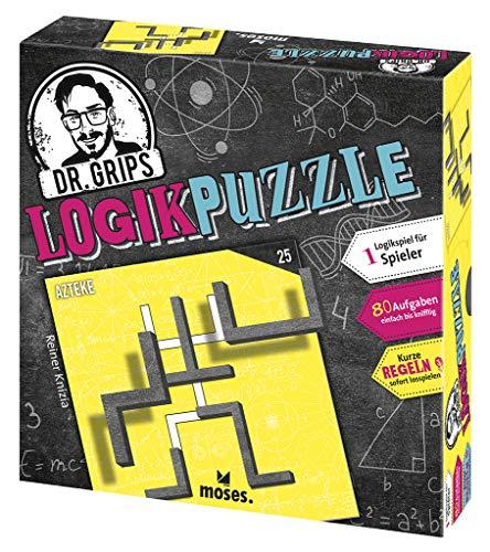 Moses 90324 Dr. Grips Logikpuzzle | Das Puzzlespiel mit Suchtfaktor | Logikspiel für 1 Spieler, bunt