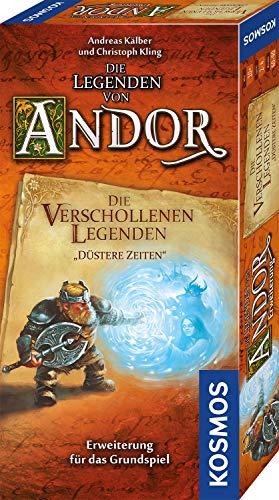 Kosmos Die Legenden von Andor – Die verschollenen Legenden – Düstere Zeiten, Erweiterung für das Grundspiel 'Die Legenden von Andor', Fantasy-Brettspiel ab 10 Jahre