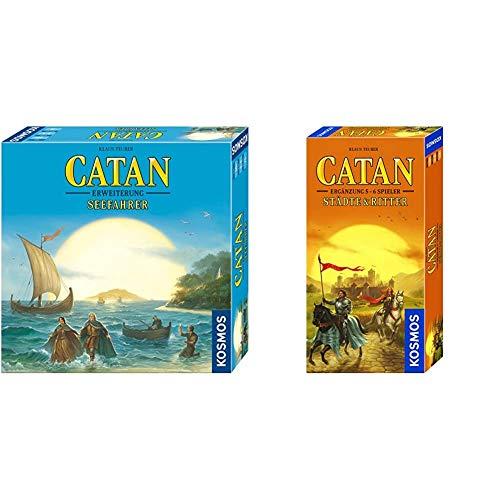 KOSMOS 694104 - Catan - Seefahrer, Erweiterung zu Catan - Das Spiel, Strategiespiel & 695514 - Catan - Städte & Ritter, Ergänzung für 5 - 6 Spieler, Strategiespiel