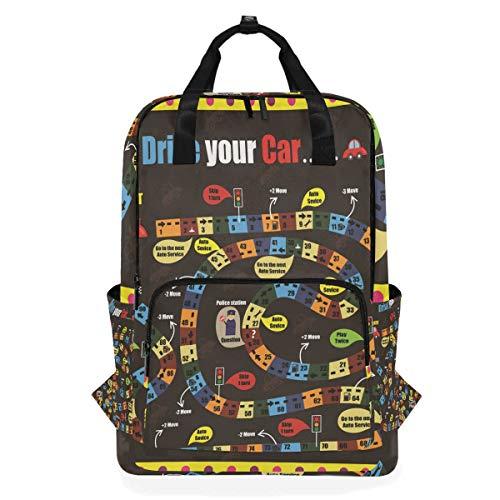 Rucksack für Schüler, lustiges Brettspiel, für Kinder bis zu 35,6 cm Laptop-Tasche, Schulranzen, Geschenk für Kinder, Mädchen, Jungen, Teenager