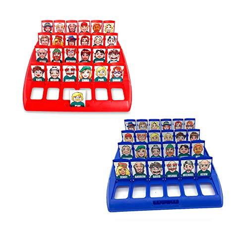 Amasawa Wer ist es Lustiges Ratespiel Brettspiel Eltern Kind Interaktives Spielzeug Logische Argumentation Desktop Freizeit Spiel Frühkindliche Lernspiel,Family Erraten Spiele,(Rot und Blau)