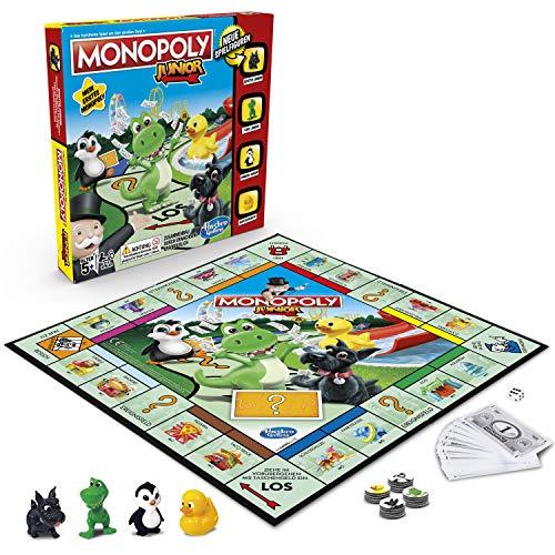 Hasbro Gaming A6984594 Hasbro Monopoly - Junior, der Klassiker der Brettspiele für Kinder, Familienspiel, ab 5 Jahren