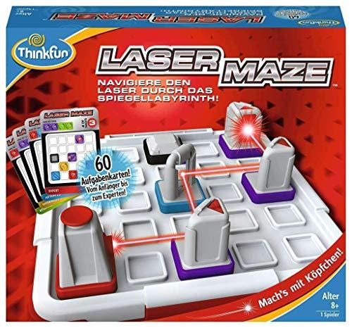 ThinkFun 76356 - Laser Maze - Spiel für Erwachsene und Kinder ab 8 Jahren, Spannendes Logikspiel mit echtem Laser und Spiegeln, für 1 Spieler