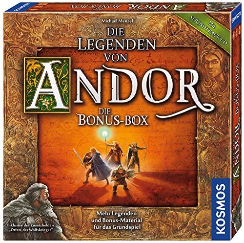 KOSMOS 694074 Die Legenden von Andor - Die Bonus-Box. Mehr Legenden und Bonus-Material für das Grundspiel, Fantasy-Brettspiel ab 10 Jahren