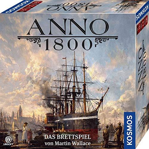 KOSMOS 680428 Anno 1800, Das Brettspiel zum beliebten PC-Spiel, Aufbau-Strategie-Spiel für 2-4 Spieler, Gesellschaftsspiel ab 12 Jahre, mit Originalgrafiken