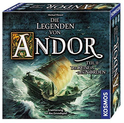 KOSMOS 692346 Die Legenden von Andor - Teil II Die Reise in den Norden, Erweiterung für das Grundspiel 'Die Legenden von Andor', ab 10 Jahren, Fantasy-Brettspiel